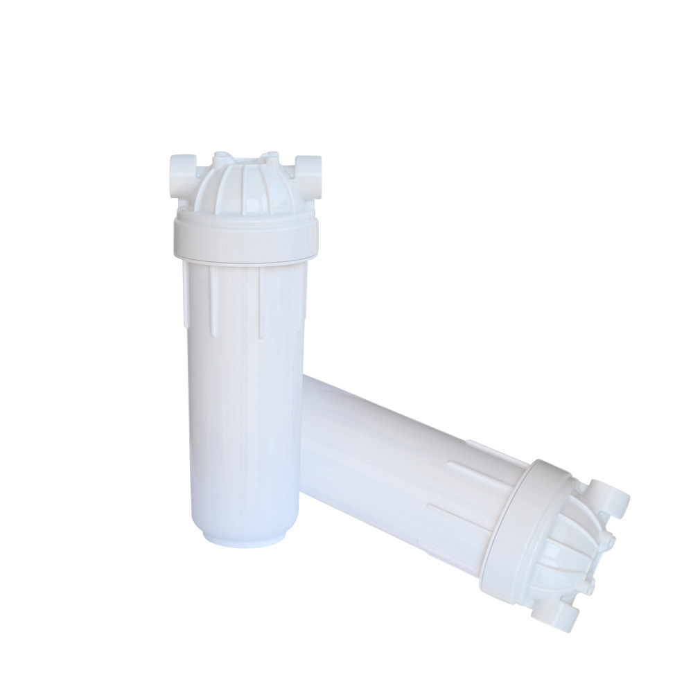 Household undersink ro water purifier system parts food grade PET body and PP cap  water filter housing 10 inch