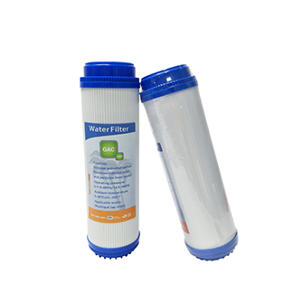 water filter spare parts 10 inch coconut GAC filter cartridge