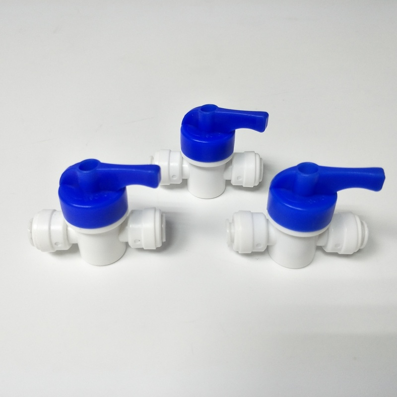 Water filter spare parts ro water purification system quick fitting pressure tank ball valve