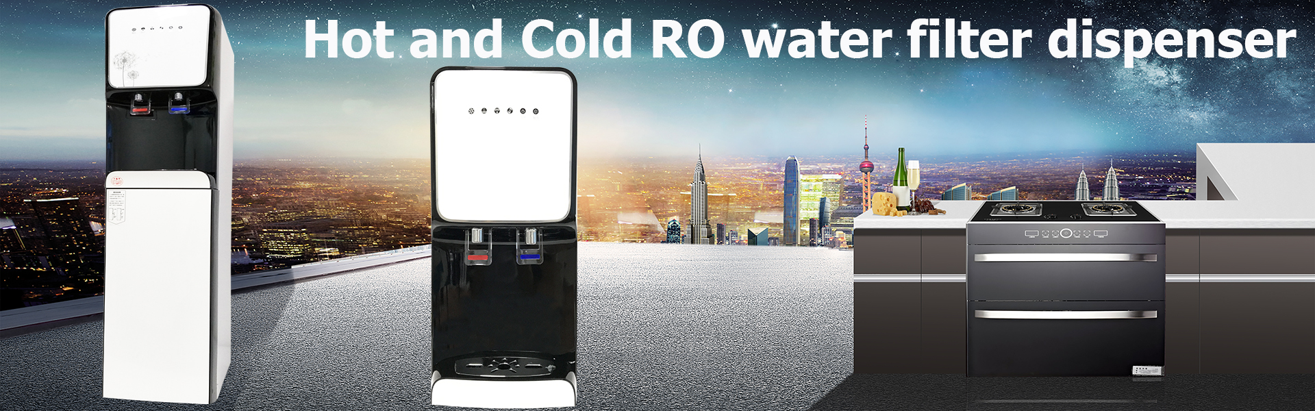 Hot and cold ro water filter dispenser
