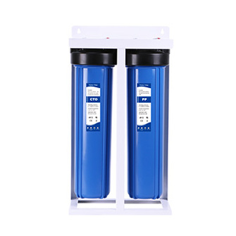 20'inch jumbo wholehouse previous water filtration 2 stage big flow rate water filter with standing