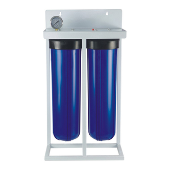 2 stage 20'inch jumbo wholehouse pre-filtration,previous water filter with water meter