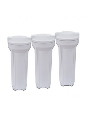 Reverse osmosis water purifier system parts food grade white color plasitc 10' inch water filter housing