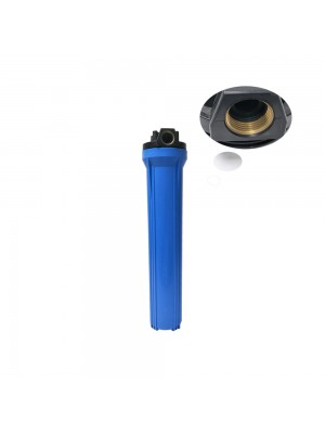 Household and commercail ro water purifier system parts food grade plasitc 20' inch blue slim water filter housing