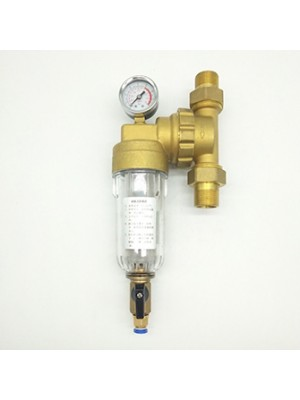 Whole house copper pre-prefiltration water filter