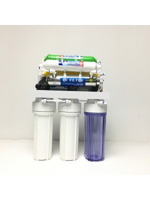 6 stage undersink direct drinking reverse osmosis water filter with UV light