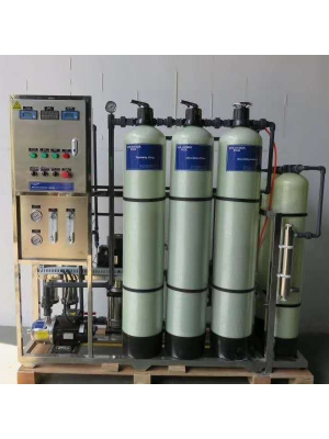 Industrial manual Single stage reverse osmosis water purification plant RO water filter system with UV light