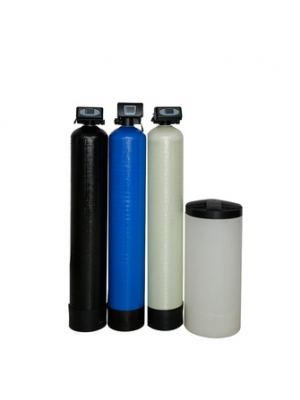 Previous water filtration salt dissolving tank, resin water softener filter system