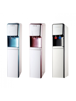 Compressor cooling standing water dispenser with hot and cold water filtration