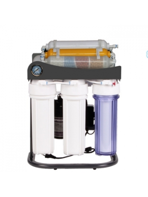 Household drinking 8 stage standing with gauge ro water purification system with ultraviolet sterilizing lamp reverse osmosis water filter system