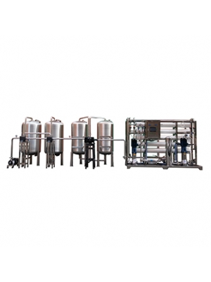 Two stage 5000lph Automatic demineralized industrial water treatment machine plant ro system