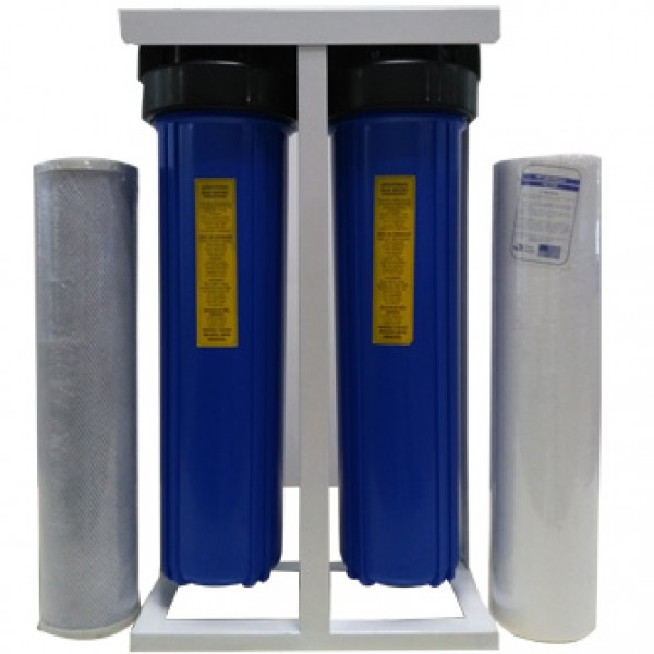 20'inch jumbo whole room pre-filtration 2 stage big flow rate water filter