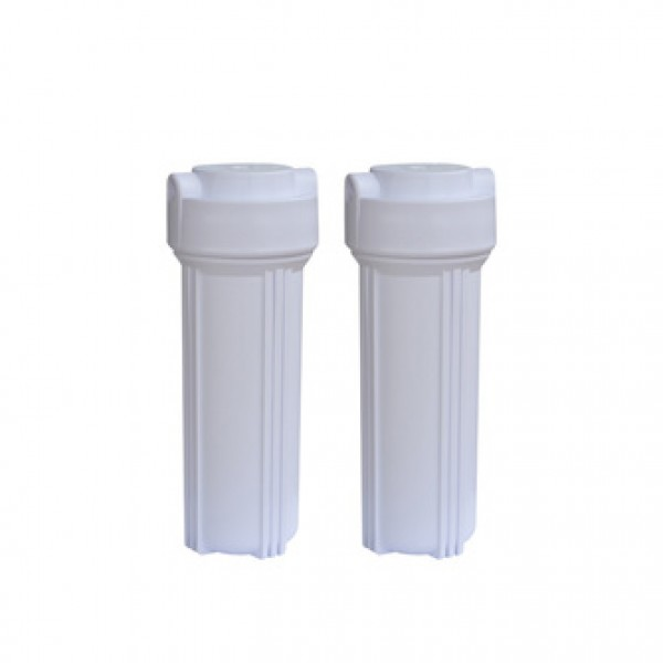 undersink ro water purifier system parts food grade white color plasitc 10' inch plastic water filter housing