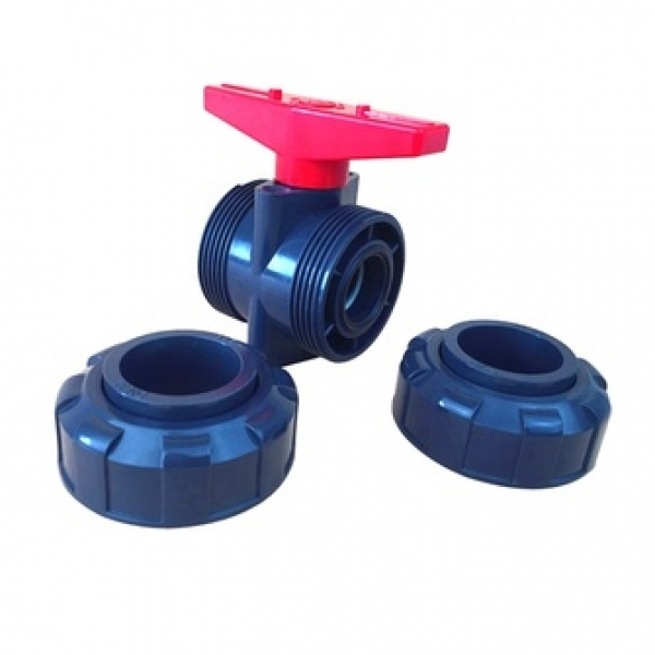 High quality UPVC water supply pipe fittings double union ball valve